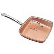 Copper Chef 24cm Square Fry Pan with Lid