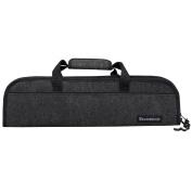 Messermeister 5 Pocket Felt Knife Storage Roll / Bag / Luggage - Charcoal Grey