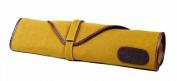 Boldric Khaki Canvas Knife Bag - 6 Pockets