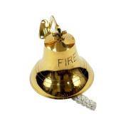 "Brass ""FIRE"" Bell, Antique Finish - Nautical Decor"