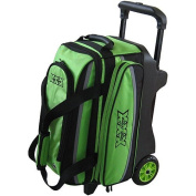 Tenth Frame Deluxe Double Roller Lime Bowling Bag