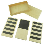 Montessori Sensorial Materials Rough and Smooth Boards for Toddler Touch Early Learning Toy