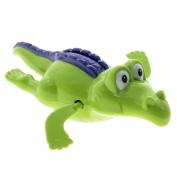 unisex baby Bathroom toy Swim Crocodile Wound-up Chain Clockwork Gift