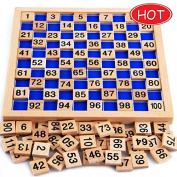 Baby Toys Montessori Education Wooden Toys 1-100 Digit Cognitive Math Toy Teaching Logarithm Version Kid Early Learning Toy Gift