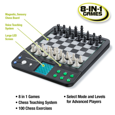 Voice Master, 8 Electronic Board Games, Chess, Checkers, Reversi