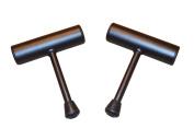 OFG Isometric Stabiliser Push up Bar Textured Black Powder coated