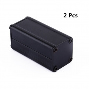 Yosoo 2pcs New Black Extruded Aluminium Electronic Box Enclosure Project Case PCB DIY Box-5cm x 2.5cm x 0.250cm