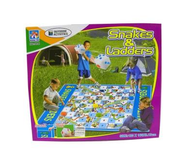 One Set Jumbo Kids Outdoor Garden Snakes and Ladders Floor Mat Game