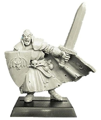 28mm Fantasy Miniatures: Vampire with Sword and Shield