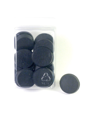 Value Pack of 20 - 32MM Round Black Miniature Model Bases for TableTop or Miniature WarGames