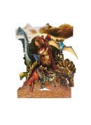 Santoro 3D Swing Greeting Card, Dinosaurs