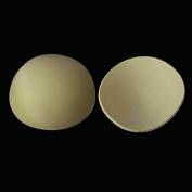2pairs Khaki Round Sewing in Bra Cups Soft Foam Bra Push up Pads for Bikini Padding Insert Clothing Bra Accessorries Wb104