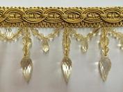 10cm Crystal Beaded Tassel Fringe Trim TF-32/12 Antique Gold