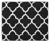 Accent Floor Rug for Red, Black and White Trellis Print Lattice Bedding Collection