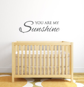 You Are My Sunshine Wall Decal Quote - Nursery Wall Decals - Baby Nursery Decor Vinyl Wall Decal