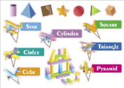 Kids Learning Shapes Artwork Room Decor Wall Sticker Decal **38cm W X 60cm H**