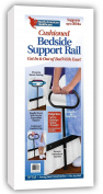Cushioned Bedside Support Rail Safety 140kg Handle Bed Pivoting Stand Sit up