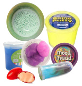 Kids Slime and Putty Toy Sampler Bundle - Tactile and Sensory Toys for Children