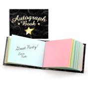 Autograph Book (BLACK WITH STAR) - 13cm x 10cm