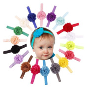 Culater® 18PCS Babys Girls Elastic Shabby Flower Headband Photography Headbands