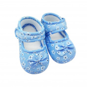 Fulltime(TM) Kids Baby Bowknot Printing Newborn Cloth Shoes Toddler Anti-Slip Soft Solid First Walker Shoes