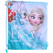 Disney Frozen Elsa Queen of Snow Drawstring School Sports Gym & Swimming Bag