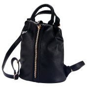 Back-pack Milano (Black) Made With Pu & Zinc Alloy by JOE COOL