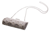 Candere- Unblemished Pearls & Diamante Silver 20 X 10cm Clutch Bag