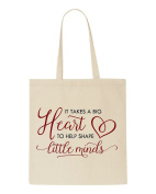 It Takes A Big Heart To Help Shape Little Minds Teacher Appreciation Gift Sublimation Tote Bag Shopper