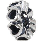 Surround by Love Charm Bead Spacer - .925 Sterling Silver Bead - Fits Pandora Charm Bracelet