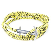 Anchor & Crew Sterling Silver Yellow Noir Admiral Bracelet of 17-23cm