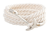 Men's Natural White Unisex Hand Made Anchor Bracelet in Silver by Geralin Gioielli