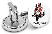 Daddy Bond Cufflinks, Mens gifts,wedding,groom,fathers day