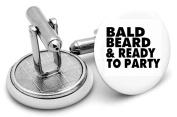 Bald Beard cuff links ,birthdays ,wedding.unisex Cuff links singer prince