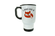 I Don't Give A Fox Travel Mug - Funny Gift - Gift For Adults