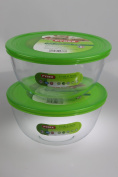 Pyrex SET OF 2 Cook & Store Mixing Bowl Set With Lids 2.0 Litre