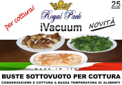 ROYAL PACK Embossed vacuum bags for vacuum equipment of all brands for low temperature cooking 25x35 pack