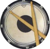 Coaster - Drums Practise Pad