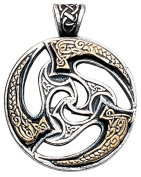 Sun Wheel - Pendant Charm Necklace representing Optimism and Progress - Celtic and Viking jewellery in Lead-Free Pewter, Silver Plated