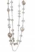 Lux Accessories Clear Faux Stone Chain Necklace