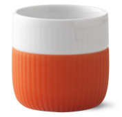 Royal Copenhagen Fluted Contrast Espresso Cup 8cl - Poppy Red