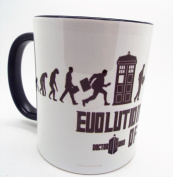 Evolution of Dr who 330ml Ceramic Mug The doctor