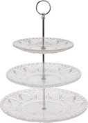 3 Tier Vintage Style Glass Cake Stand Wedding Cupcake Stand Afternoon Tea