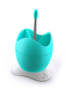 BIESSE CASA Polystyrene Cutlery Drainer with Drainage Container and Handle, Light Blue