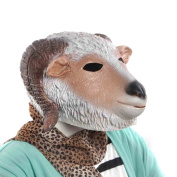 FunnyToday Novelty Adult Toy for Halloween Cute Goat Sheep Head Rubber Latex Mask Masquerade Prop Party SIlicone Cosplay Face Masks
