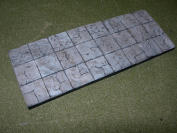 1/35 Scale Old flagstone path or road section. 200mm x 75mm model display base
