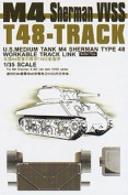AFV Club 35038 - Model for T-card 48 Sherman Tracks Articulated