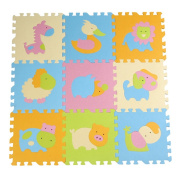 Menu Life Cute Animal EVA Foam Play Mats,baby play puzzle Animal eva foam mat,Bright Colour, Environmental Material, Safe to Use, pad floor for baby games 30*30*1.4cm