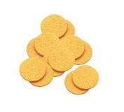 DMtse Natural Cellulose Mask Removing Sponges Cleansing Facial Sponges - 12 Pack - Round 10cm
