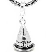 """SEXY SPARKLES Women's """" Witch Hat Charm """" Dangle Bead Charm"""